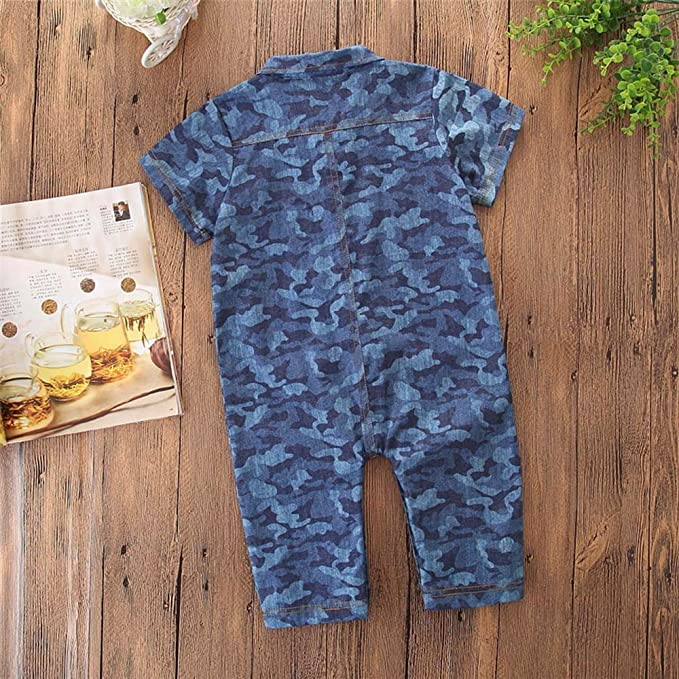 689e1b2df6c Amazon.com  Fineser Baby Romper Infant Boys Camouflage Short Sleeve Jumpsuit  Summer Casual Outfit Clothes  Clothing