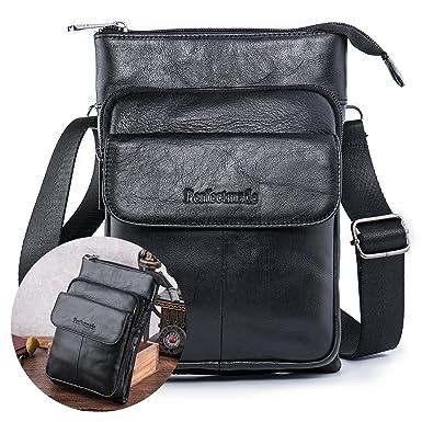Amazon.com | Men Leather Cross body Messenger Bag, Shoulder Purse ...