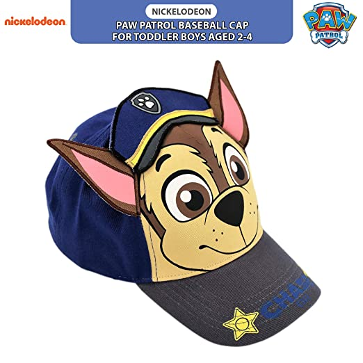 Nickelodeon Toddler Boys' Paw Patrol Character Cotton Baseball Cap,  Multicolor, Age 2-4