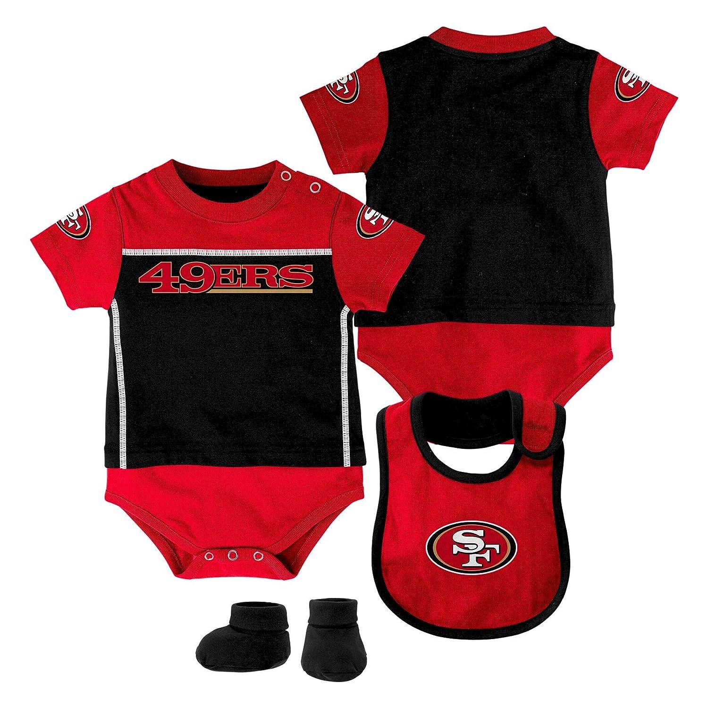 7d2d6b72d Amazon.com   NFL San Francisco 49ers Creeper Bib and Bootie Set ...