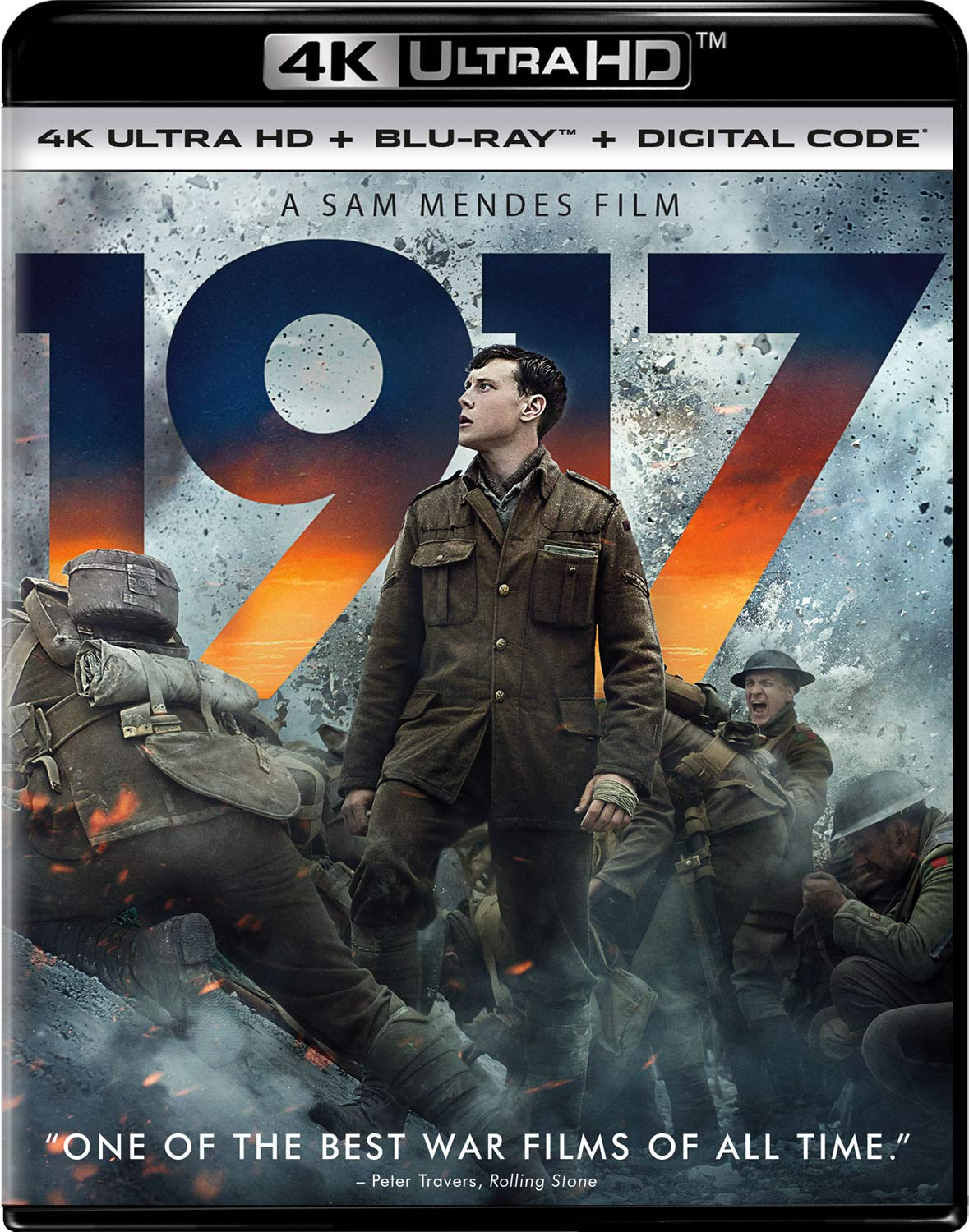 Amazon Com 1917 Blu Ray George Mackay Dean Charles Chapman Mark Strong Andrew Scott Richard Madden Colin Firth Benedict Cumberbatch Sam Mendes Sam Mendes Pippa Harris Jayne Ann Tenggren Callum Mcdougall Brian Oliver Sam Mendes Krysty
