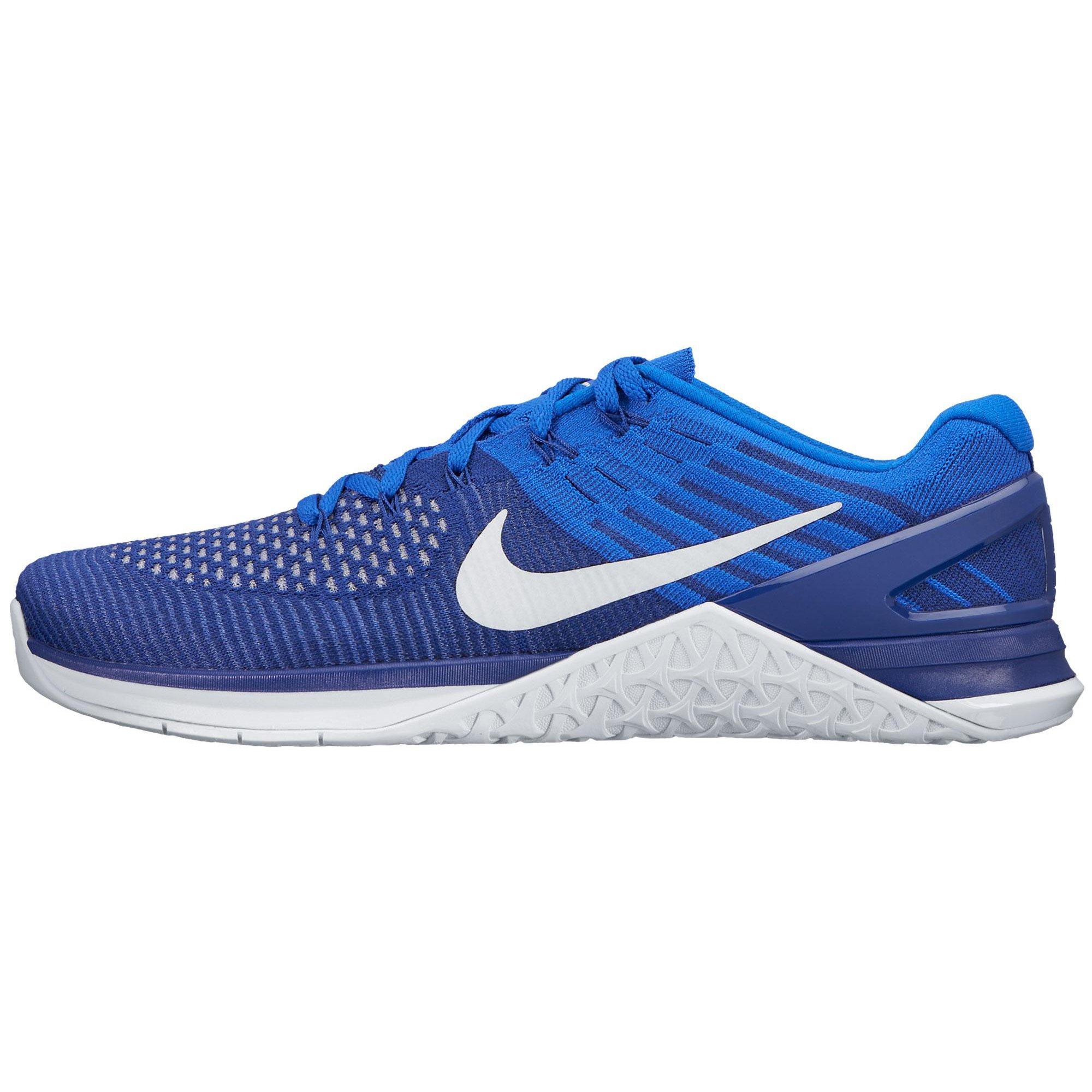 Nike Men's Metcon DSX Flyknit Training Shoe Deep Royal Blue/White-Racer Blue 12 D (M) US