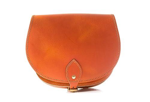 To Con Vintage Cuoio Borsa Leather A Croce Arancione Reale Corpo Z HOwqdvxS