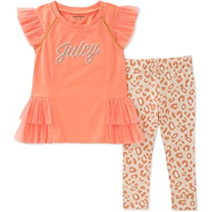 Girls' Clothing (newborn-5t) Baby & Toddler Clothing Smart Juicy Couture Top And Leggings Set Age 12-18 Months