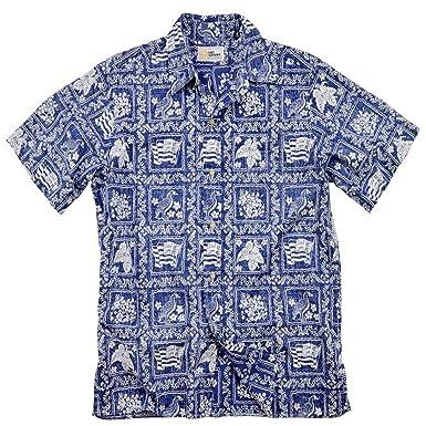 2a963739d Amazon.com: Reyn Spooner - Lahaina Sailor, Classic Plkt Hawaiian Print  Short Sleeve Shirt: Clothing