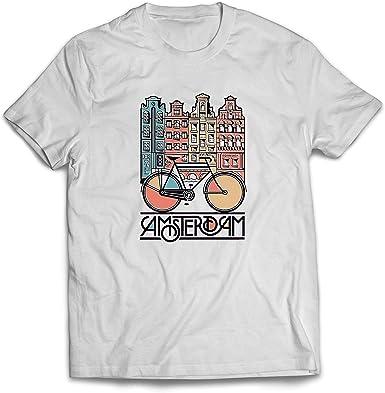 lepni.me Camisetas Hombre Bicicleta Vintage de la Ciudad de ...