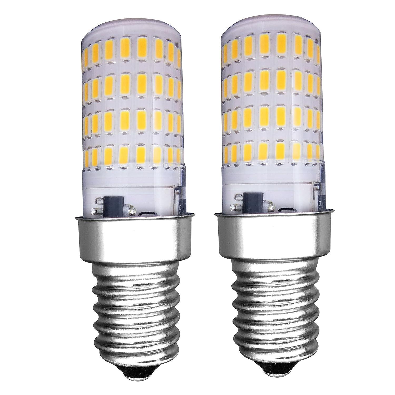 MZMing [2 Piezas] E14 Pequeñ o LED Bulb 4W Bombillas Nevera-no Dimmable 3000K Brillante luz Blanca Cá lida 450lm Á ngulo de haz de de Bombilla Haló gena de 40W-Calor Bajo Usado para Nevera