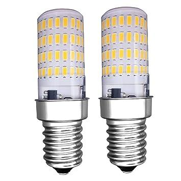 MZMing [2 Piezas] E14 Pequeño LED Bulb 4W Bombillas Nevera - Dimmable 3000K Brillante