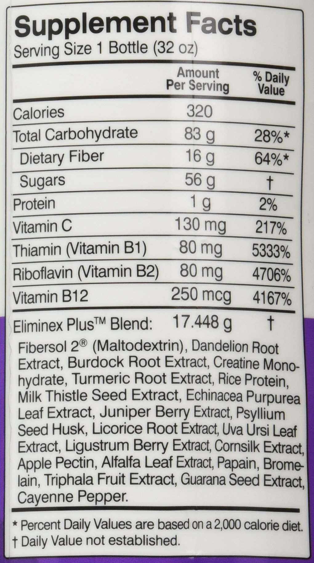 Herbal Clean QCarbo32 Fast Cleansing Drink Grape Flavor - 32 Ounce - Same Day Detox by Herbal Clean (Image #2)