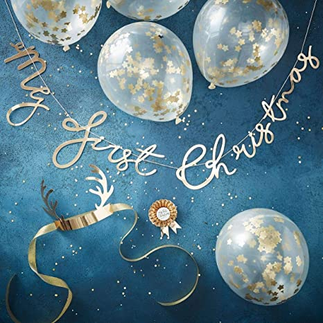 babys first christmas photo booth props christmas party decorations reindeer antler head band etc - Blue Christmas Theme Decorations