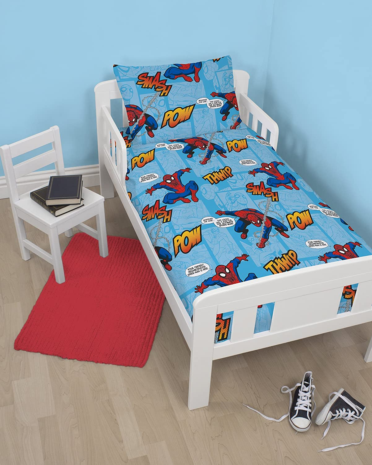 Disney Spiderman Ultimate Thwip Junior Rotary Bedding Bundle character world DUS-TWP-DX1-MSCx-01xx