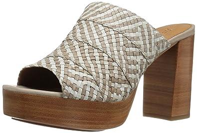 b6a7f7b5bb4f8 Amazon.com | FRYE Women's Katie Woven Platform Slide Sandal | Slides