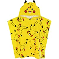 Pokemon Poncho Towel for Boys Girls   One Size Pikachu Hooded Bath Towel with 3D Ears   Kids Warm & Dry Cotton Robe…