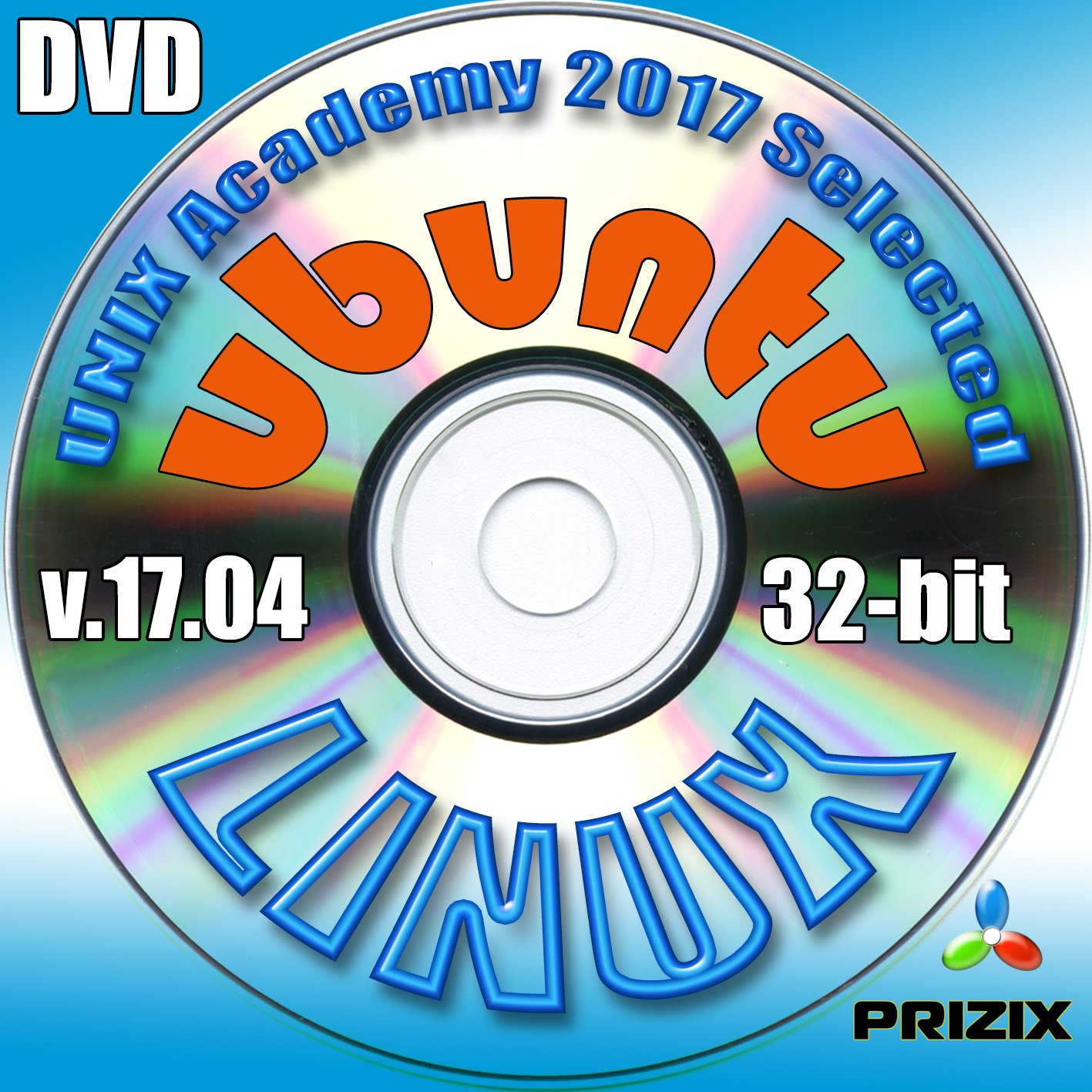 Linux on 16Gb USB Flash and 5-DVDs, Installation and Reference Set, Newest Linux Release 32-bit: CentOS 6, Ubuntu 17.04, Debian 9 and Fedora 26 by PRIZIX