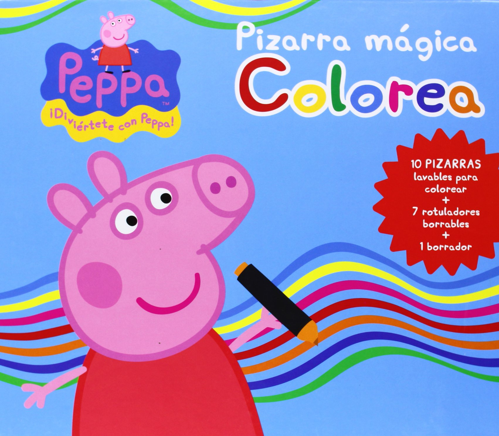 PEPPA PIG - PIZARRA MAGICA. COLOREA: 9788415857884: Amazon ...