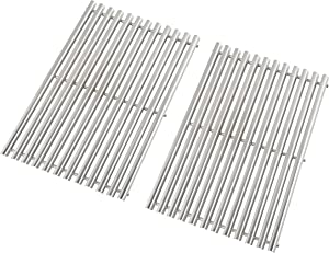 "Replace parts Stainless Steel Cooking Grid Replacement for Weber Spirit 300 Series, Genesis Silver B/C, Gold B/C, Genesis 1000-3500,Genesis Platinum B & C,Set of 2 (17.5"" x 11.9"")"