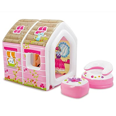 "Intex Princess Play House, Inflatable Play House with Air Furniture, 49"" X 43"" X 48"", for Ages 2-6: Toys & Games"