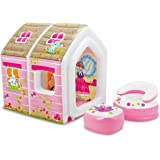 """Intex Princess Play House, Inflatable Play House with Air Furniture, 49"""" X 43"""" X 48"""", for Ages 2-6"""