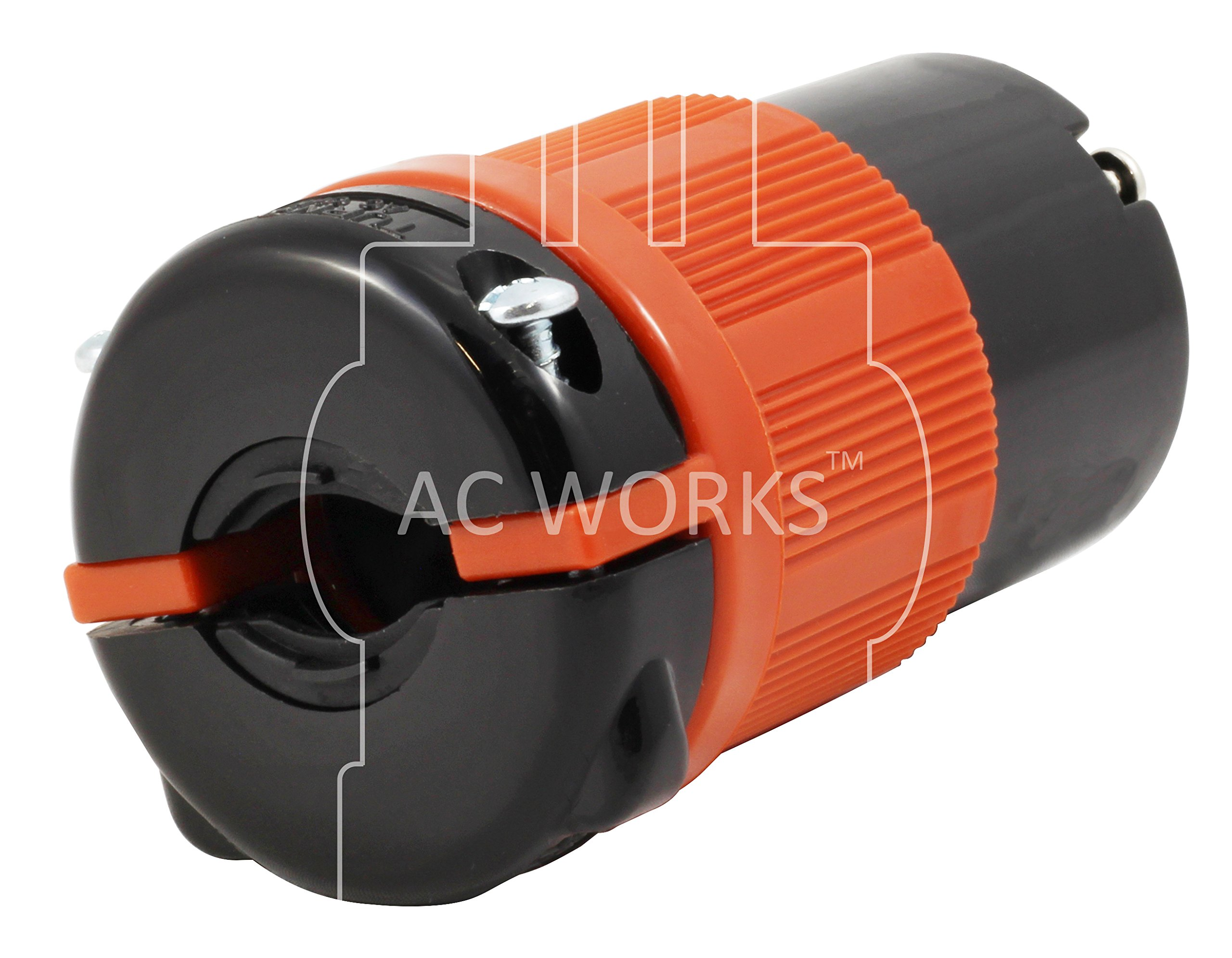 AC WORKS [ASL1430PR] NEMA L14-30 30Amp 125/250Volt 4Prong Locking Male Plug and Female Connector With UL, C-UL Approval by AC WORKS (Image #3)