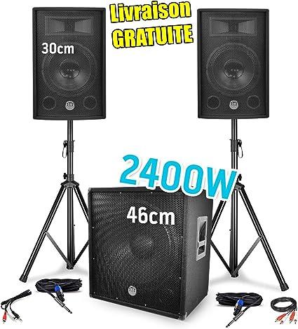 Paquete SONO 2400W - 2 altavoces de 30 cm / 12