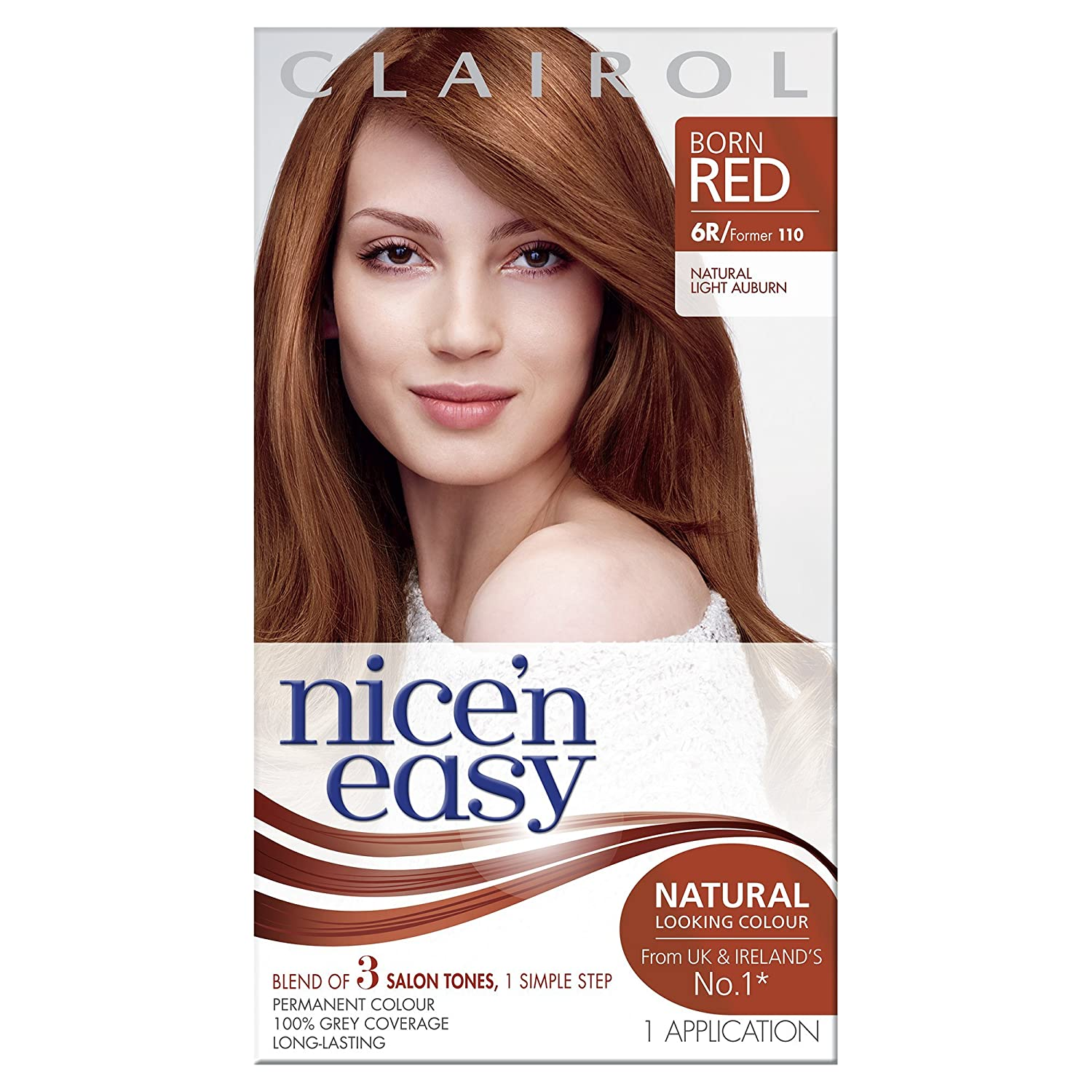 Clairol Nicen Easy Permanent Hair Dye 1106r Natural Light Auburn
