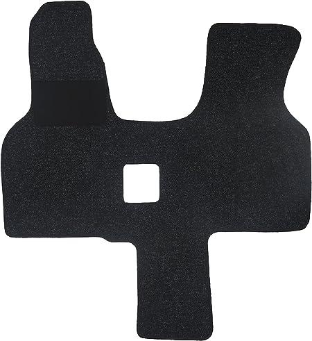 Alpha Tex Fußmatte 4440 Autoteppich 1 Tlg In Qualität Robust Anthrazit Umrandung Schwarz Auto
