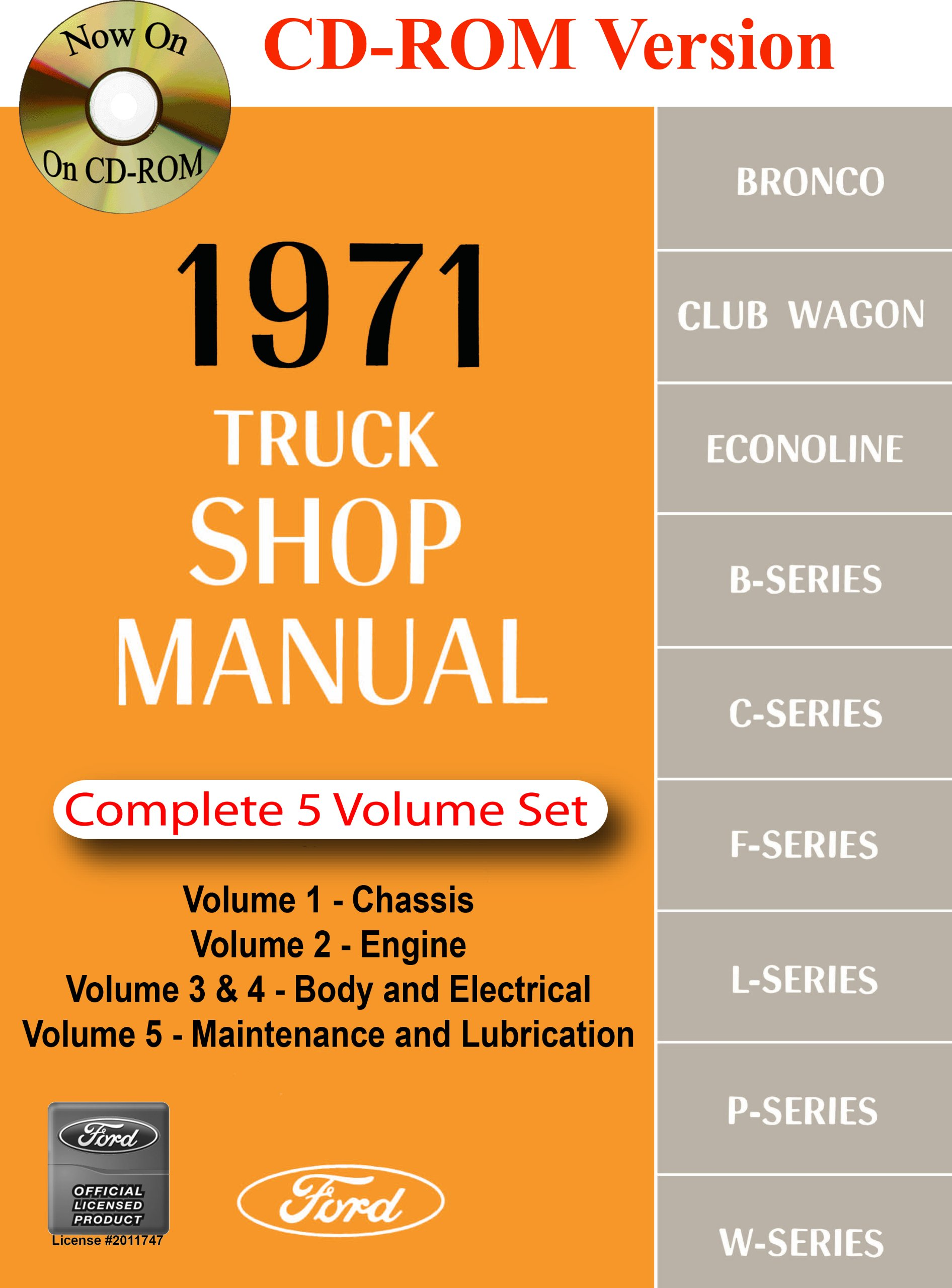1971 ford truck shop manual ford motor company david e leblanc rh amazon com