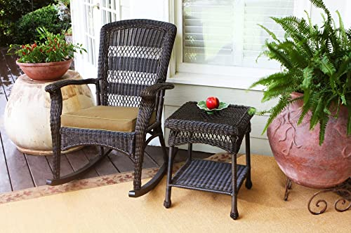 Tortuga Outdoor Portside Plantation Rocking Chair and Side Table