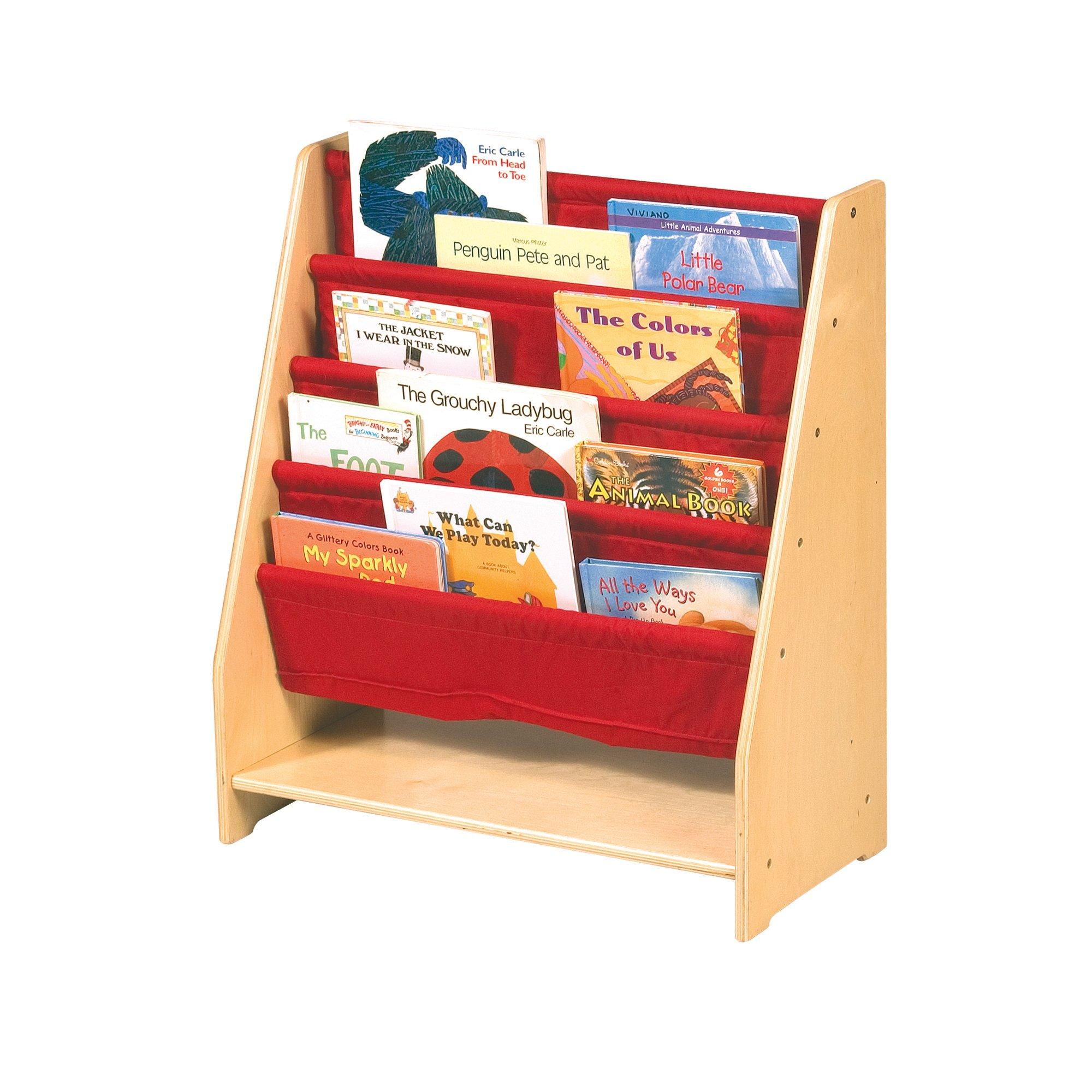Guidecraft Canvas Sling Bookshelf - Book Display Rack, Storage - Kids Furniture by Guidecraft