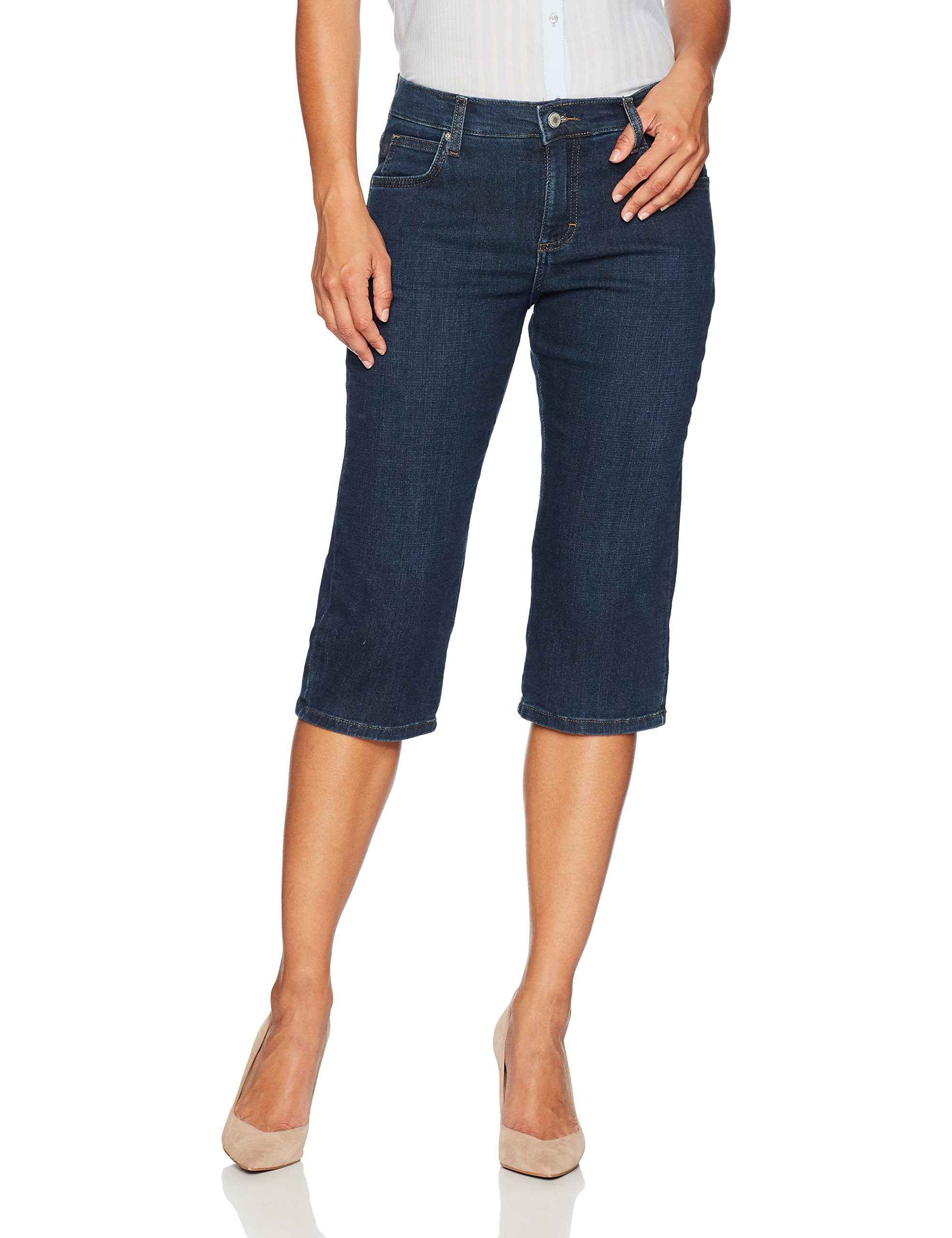 LEE Women's Relaxed Fit Capri Pant, Mysterious, 8 Petite