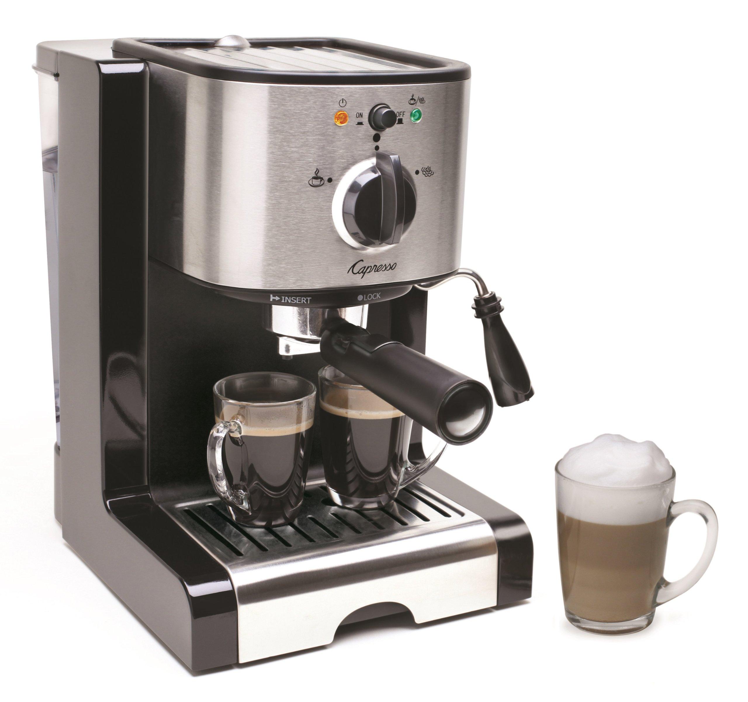 Capresso 116.04 Pump Espresso and Cappuccino Machine EC100, Black and Stainless by Capresso (Image #4)
