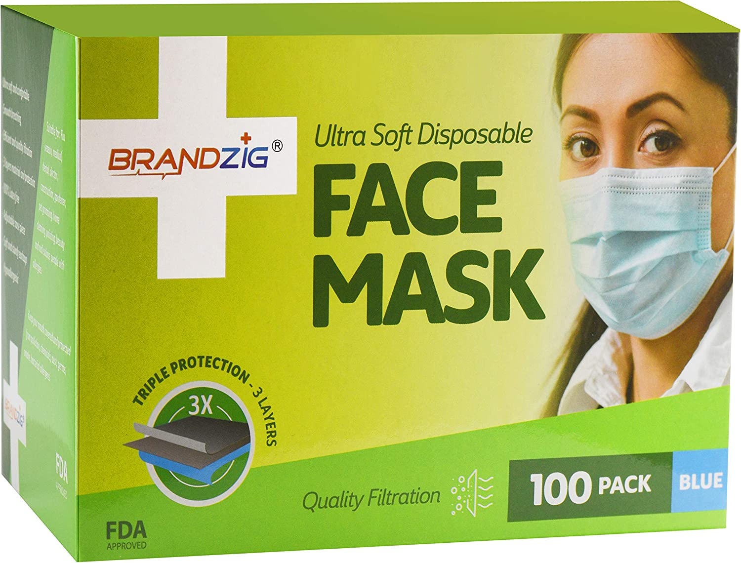 Ultra Ear With com Amazon Mask Disposable Face 100 Loops Soft