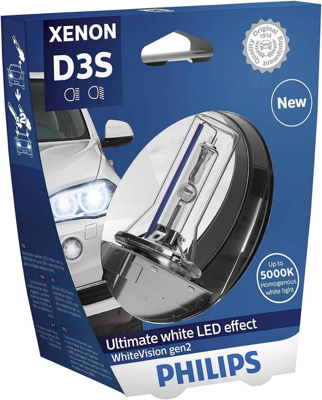 Philips 42403whv2s1 Xenon Scheinwerferlampe Whitevision D3s Gen2 Einzelblister Auto