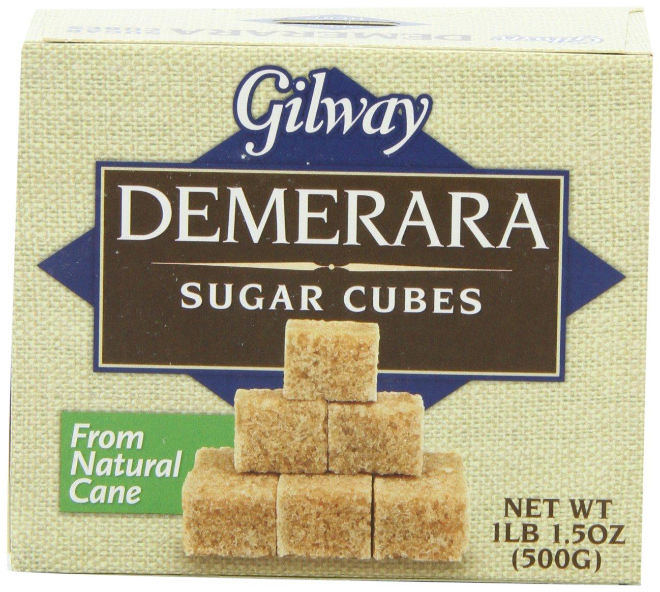 Gilway Demerara Sugar Cubes, 500 gram per Box (Pack of 10)