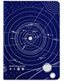 Cognitive Surplus Solar System Blank & Lined Hardcover Journal, Large, Blue