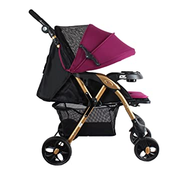 Buy Abdc Kids Baby Pram Stroller Adjustable Handlebar Pink Escalade Online At Low Prices In India