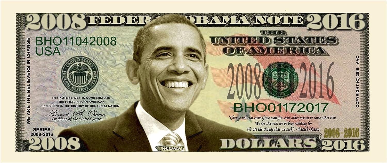 President Barack Obama Presidential Bill Set Nine Different Bills 2008 to 2016