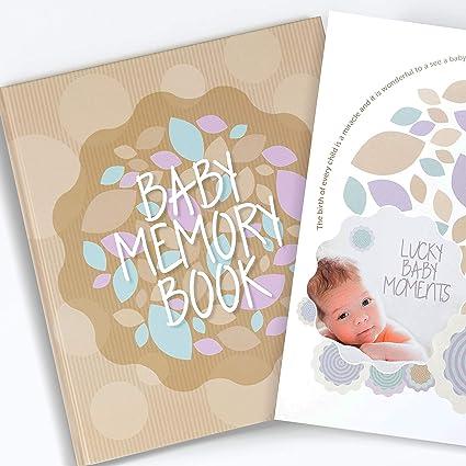 No Personalisation ukgiftstoreonline Baby Boy My First Year Keepsake Record Book