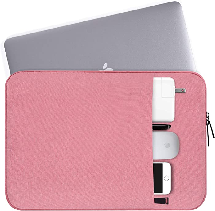 "14-15 Inch Laptop Sleeve Bag Waterproof Shockproof Notebook Case Compatible Acer Chromebook 14/Acer Aspire,MacBook Pro 15""/15.4"",Asus VivoBook,Lenovo/HP/Toshiba/Samsung/MSI/LG/Dell Protective Bag,Pink"