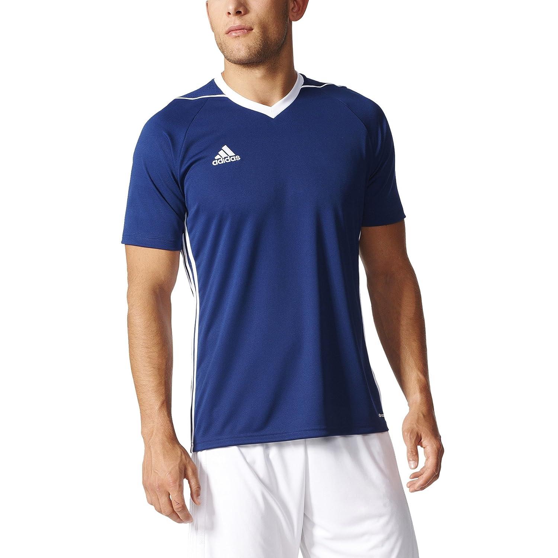 adidas SHIRT メンズ B01N41M5K2 Large|Dark Blue-white Dark Blue-white Large