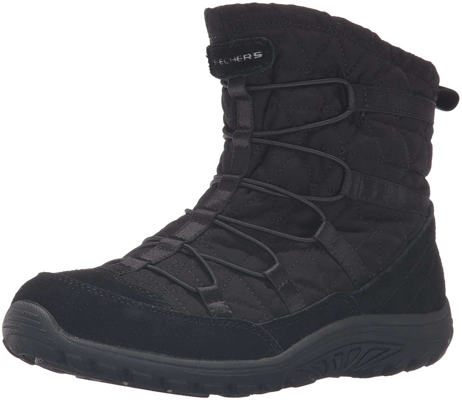 Skechers Womens Reggae Fest Steady Quilted Bungee Ankle Bootie  5 B(M) US|Black