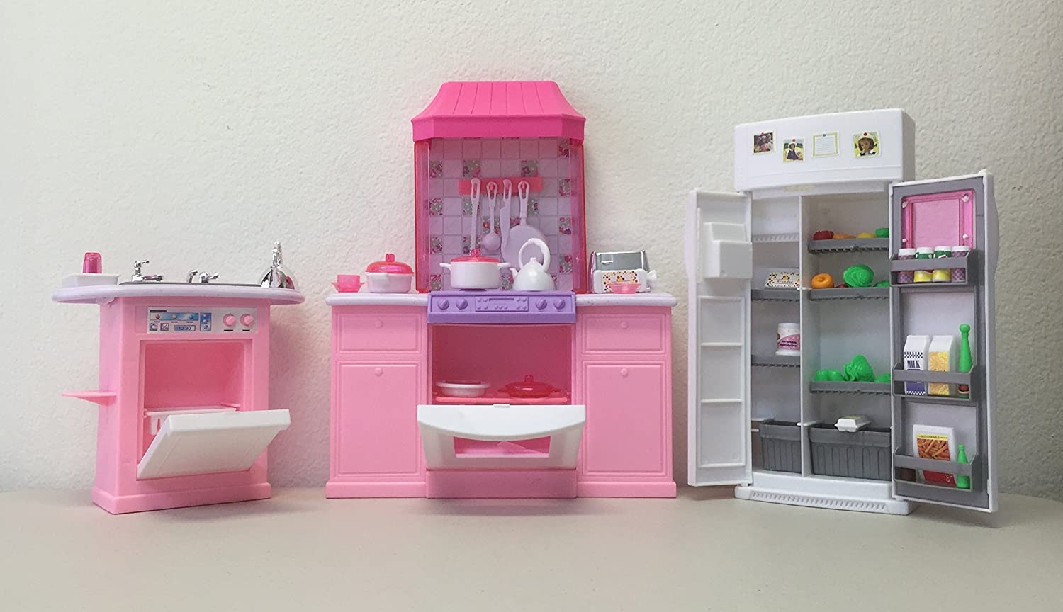 amazoncom barbie size dollhouse furniture kitchen set toys games barbie doll house furniture sets