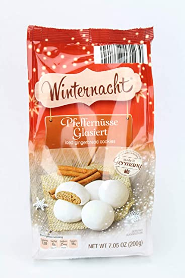 Winternacht Pfeffernusse Glasiert Iced Gingerbread Cookies 7 5 Ounce