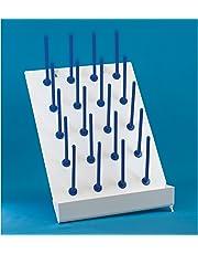 United Scientific 81741 Plastic Drying/Draining Rack, 20 Places