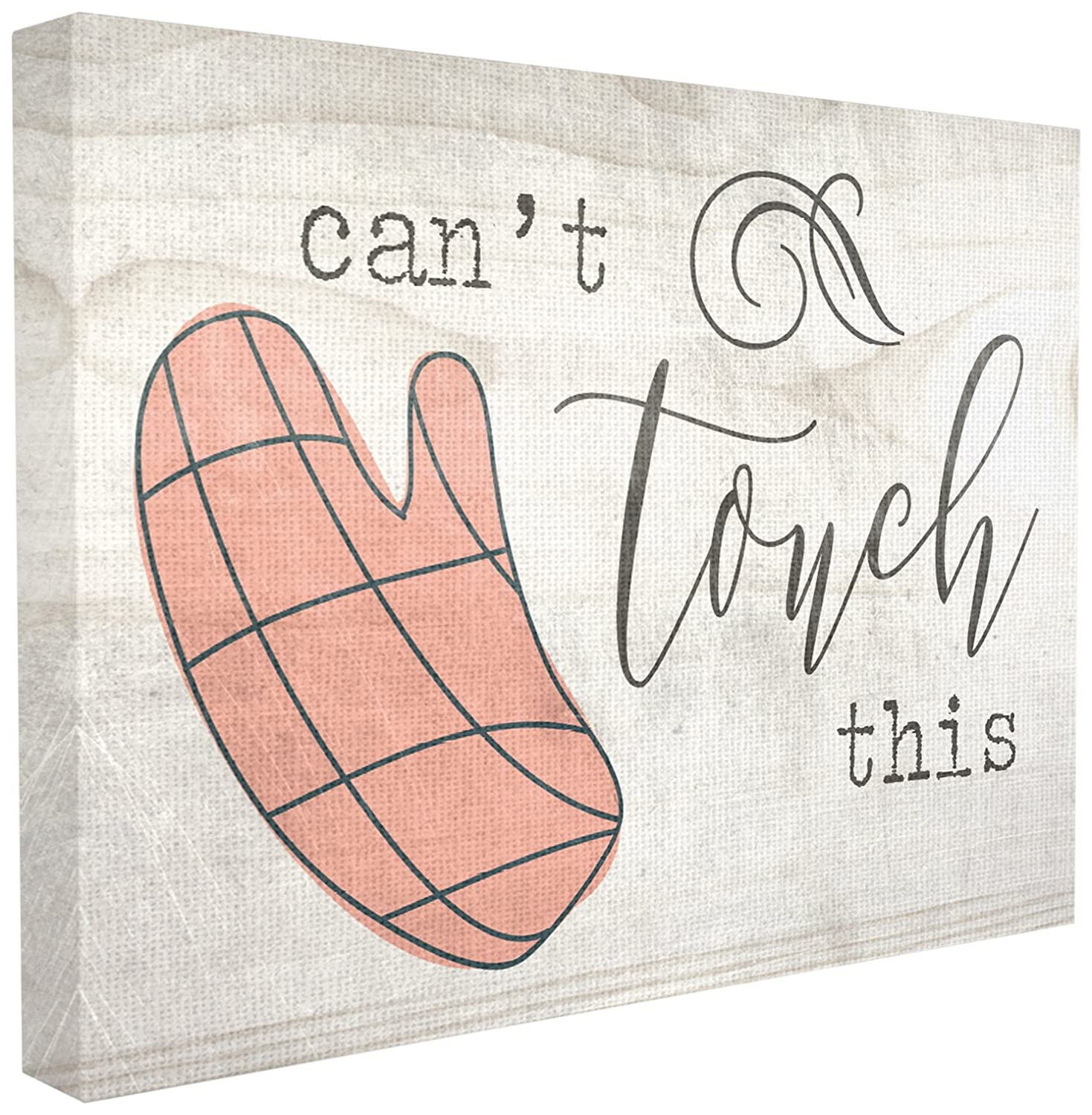 Stupell Industries Can't Touch This Oven Mitts XXL Stretched Canvas Wall Art, 30 x 1.5 x 40, Multi-Color
