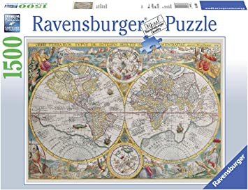 Cartina 1500.Ravensburger Puzzle Mappa Mappamondo Storico Puzzle 1500 Pezzi Relax Puzzles Da Adulti Dimensione 80x60 Cm Stampa Di Alta Qualita Cartina Amazon It Giochi E Giocattoli