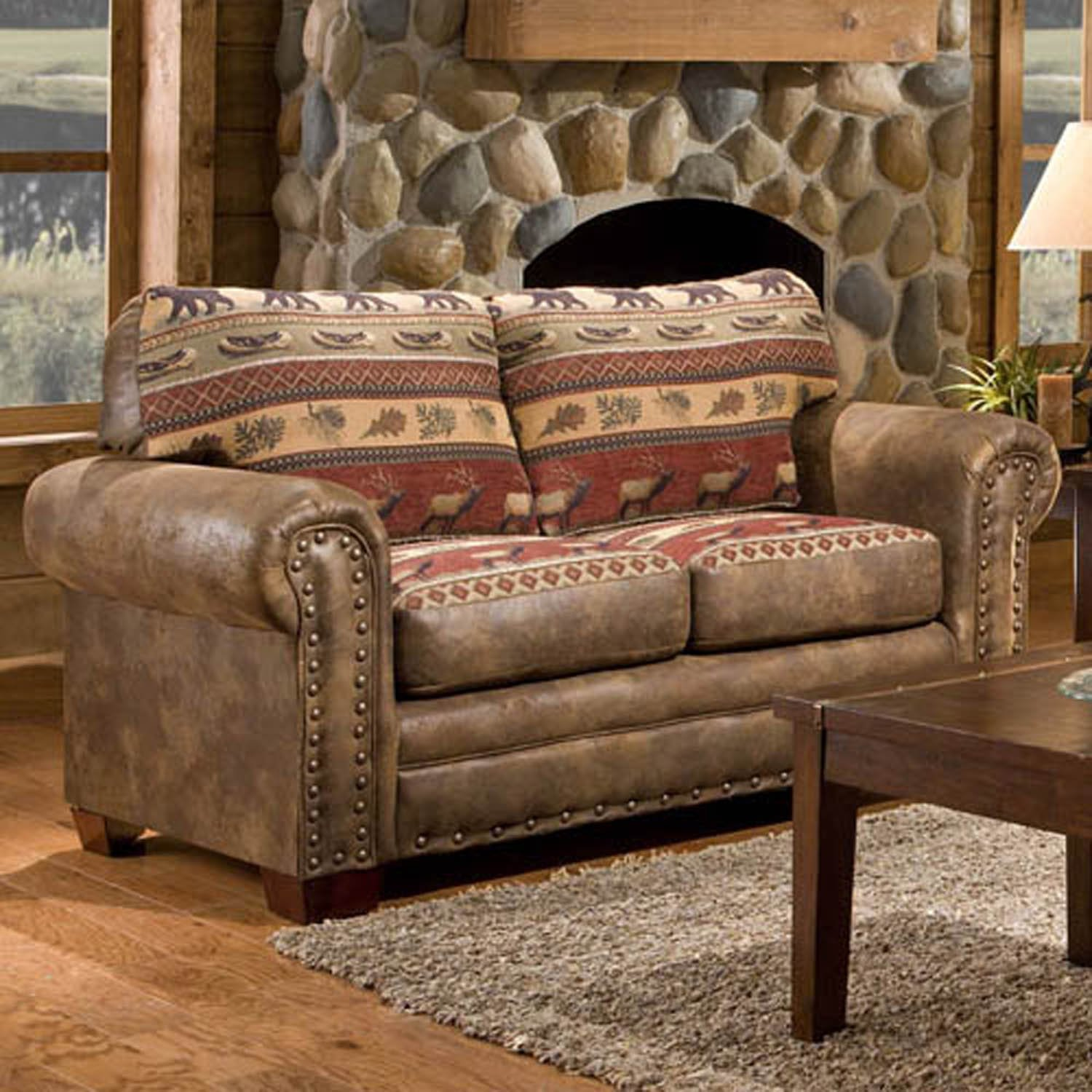 Amazon com  American Furniture Classics Sierra Lodge Love Seat Kitchen Dining
