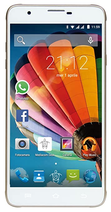 2 opinioni per Mediacom PhonePad Duo G551 Smartphone da 8 GB, Dual-SIM, Oro