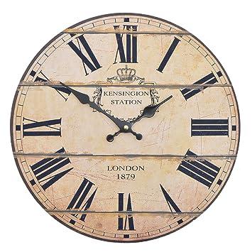vevendo wanduhr london 1879 holz kuchenuhr mit grossem ziffernblatt aus mdf retro uhr