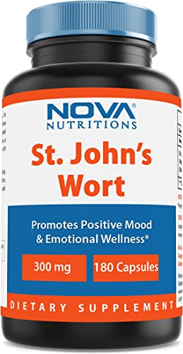 Nova Nutritions St Johns Wort 300 mg 180 Capsules – Also Called Saint Johns Wort